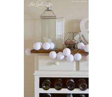 Kompozycja kolorowych kul Pure white Cotton Ball Lights