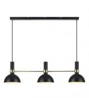 Lampa wisząca LARRY 3L 106971 metalowa belka Czarny/Złoty Szczotkowany