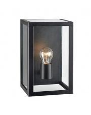 Zewnętrzny kinkiet elewacyjny PELHAM 107113 Markslojd aluminiowa czarna oprawa zewnętrzna szklany klosz