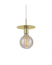 Lampa wisząca DISC 106150 Markslojd pojedynczy zwis w kolorze mosiądzu z miejscem na żarówkę z gwintem E 27