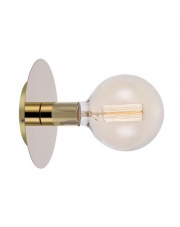 Lampa ścienna DISC 106154 Markslojd pojedynczy kimkiet w kolorze mosiądzu z miejscem na żarówkę z gwintem E 27