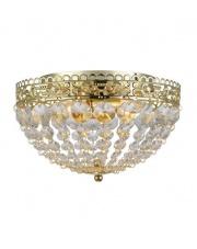 Lampa sufitowa SAXHOLM 106063 Markslojd kryształowy plafon dekoracyjny ze złotymi zdobieniami