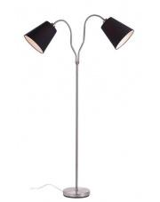 Lampa podłogowa MODENA 105248 Markslojd podwójna stalowa lampa z czarnymi kloszami