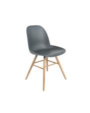 Krzesło ALBERT KUIP 1100293 Zuiver nowoczesne krzesło ciemnoszare siedzisko jesionowe nogi