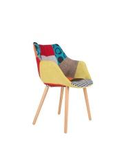Krzesło TWELVE PATCHWORK 1100266 Zuiver unikalne krzesło z patchworkową tapicerką wielokolorowe
