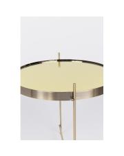 Stół CUPID GOLD 2300079 Zuiver okrągły złoty stolik z lustrzanym blatem