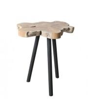 Stół TREETOP 2300083 Zuiver stolik z blatem z pnia drzewa tekowego