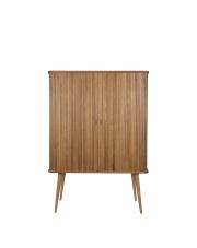 Szafka BARBIER CABINET 4100019 Zuiver szafka barek wykonany z drewna jesionowego ze szklanymi półkami na jesionowych nogach o średnicy 45 mm