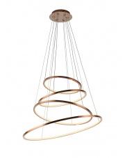 Lampa wisząca żyrandol Queen P0244 oprawa wisząca nowoczesna miedziana Maxlight