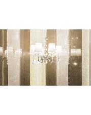 Lampa wisząca żyrandol Charlotte P0109 oprawa wisząca klasyczna biały abażur Maxlight