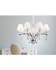 Lampa wisząca żyrandol Lisbona P0106 oprawa wisząca klasyczna biały abażur Maxlight