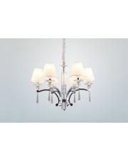 Lampa wisząca żyrandol Lisbona P0105 oprawa wisząca klasyczna biały abażur Maxlight