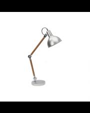 OUTLET Lampka stołowa/biurkowa Eric 7201132 srebrny/drewno Spotlight snowoczesne oświetlenie
