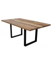 Stół prostokątny minimalistyczny Massivo na stalowych nogach take me Home