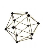 Molekularna mosiężna ozdoba AOA9944 HK Living dekoracja z mosiądzu o kształcie molekuł