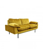 Sofa 2-osobowa Retro aksamitna różne kolory HK Living designerska welurowa kanapa retro