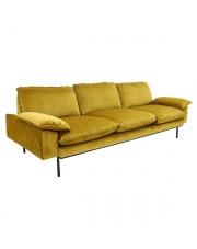 Sofa 3-osobowa Retro aksamitna różne kolory HK Living designerska welurowa kanapa retro