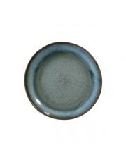 Talerz deserowy w stylu lat 70. ACE6066 HK Living ceramiczna niebieska zastawa stołowa
