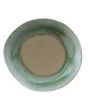 Talerz obiadowy ceramiczny zielony w stylu lat 70. ACE6037 HK Living ceramiczna zielona zastawa stołowa