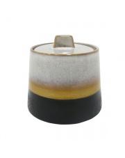 WYSYŁKA 24H! Cukiernica ceramiczna w stylu retro ACE6692 HK Living retro cukiernica w stylu lat 70.