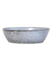 Miska duża ceramiczna w stylu rustykalnym ACE6069 HK Living misa o matowym szarym wykończeniu