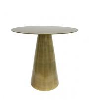 Stolik kawowy okrągły z mosiądzu MTA2811 HK Living oryginalny designerski mosiężny stolik