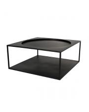 Stolik kawowy czarny FUR0011 HK Living minimalistyczny kwadratowy stolik z metalu