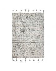 Ręcznie tkany dywan berberski z wełny TTK3018 HK Living wełniany dywan z frędzlami