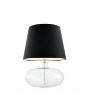 Lampa stołowa Sawa 40582102 oprawa stojąca przezroczysta/abażur czarny Kaspa