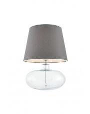 Lampa stołowa Sawa 40583108 oprawa stojąca przezroczysta/abażur szary Kaspa