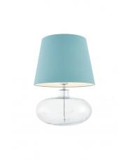 Lampa stołowa Sawa 40584112 oprawa stojąca przezroczysta/abażur jasny morski Kaspa