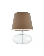 Lampa stołowa Sawa 40585107 oprawa stojąca przezroczysta/abażur beżowy Kaspa