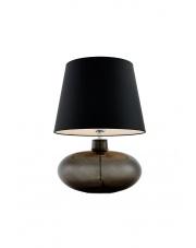 Lampa stołowa Sawa 40586102 oprawa stojąca przezroczysty grafit/abażur czarny Kaspa