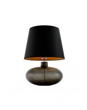 Lampa stołowa Sawa 40587102 oprawa stojąca przezroczysty grafit/abażur czarny z miedzią Kaspa