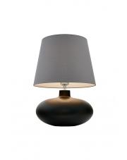Lampa stołowa Sawa 40590108 oprawa stojąca grafit mat/abażur szary Kaspa