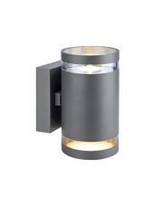 Zewnętrzny kinkiet Iris LED 2L 106516 oprawa ścienna szara/przezroczysta Markslojd
