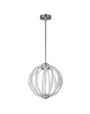 Lampa wisząca żyrandol Oberlin FE/OBERLIN/P/S oprawa wisząca satynowy nikel/przezroczysta Feiss