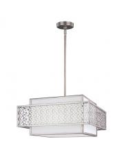 Lampa wisząca Kenney FE/KENNEY/3P oprawa wisząca srebrna Feiss