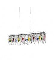 Lampa wisząca Giada Color 099163 Ideal Lux wielokolorowa kryształowa oprawa wisząca