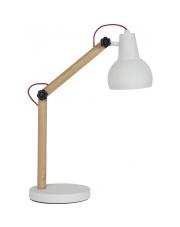 Lampa biurkowa STUDY WHITE 5200012 Zuiver dębowa lampka biurkowa z podstawą w kolorze białym