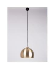 Lampa wisząca BIG GLOW BRASS 5300081 Zuiver pojedynczy zwis mosiężna kopuła