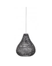 Lampa wisząca CABLE DROP BLACK 5002804 Zuiver lampa wisząca łezka czarna z żelaza i papieru