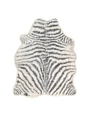 Dywan łazienkowy ZEBRA BATH MAT 85x100 TAP0869 HK Living czarno-biały dywan łazienkowy zebra