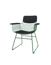 Zestaw poduszek COMFORTS KIT ARM CHAIR DARK GREY TAA1284 HK Living siedzisko, oparcie oraz podłokietniki w kolorze ciemnoszarym do krzesła WIRE ARM CHAIR