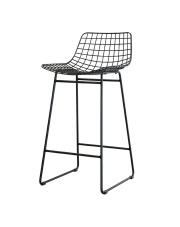Stołek WIRE BAR STOOL BLACK MZM4004 HK Living czarny metalowy stołek barowy
