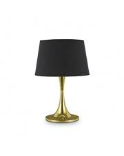 Lampa stołowa London Big Ottone 110479 Ideal Lux czarno-mosiężna oprawa stołowa w stylu nowoczesnym