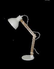 Lampa biurkowa Patu LP-1166/1T Light Prestige drewniana designerska oprawa biurkowa