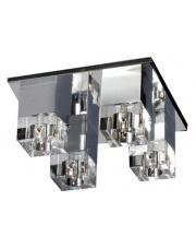 Plafon Box MX8515-4 AZzardo szklana chromowana oprawa sufitowa