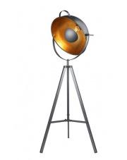 Lampa podłogowa Toma BP-8055-BK AZzardo nowoczesna czarno-złota oprawa stojąca