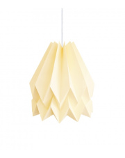 Lampa wisząca Plain Pale Yellow Orikomi dekoracyjna papierowa oprawa wisząca